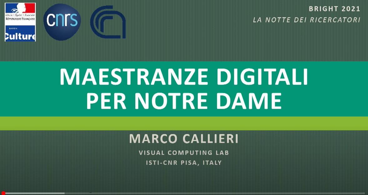 Maestranze digitali per Notre Dame