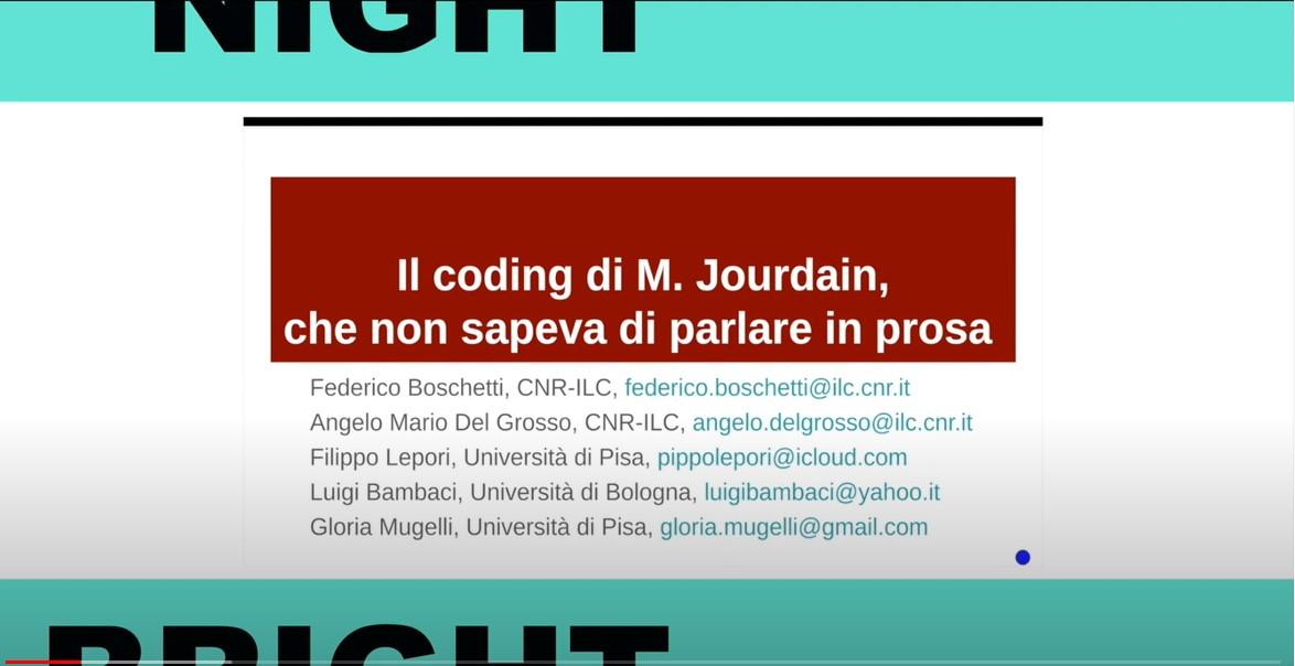 Il coding di M. Jourdain, che non sapeva di parlare in prosa